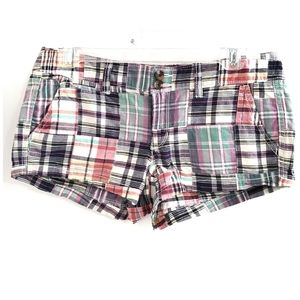 American Eagle Outfitters Plaid Patchwork Shorts